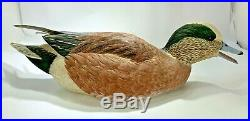 Ben A. Heinemann 1984 Decorative Widgcon Drake Duck Decoy Signed