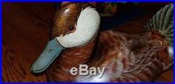 Big Sky Carvers Duck Decoy Hand Carved Wood Signed Craig Fellows Bozeman Mt