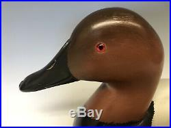 Bill Neal (Sonoma, CA) Duck Hunting Decoy Decoys Vintage Canvasback Pair