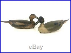 Bob White Duck Decoy Pair Northern Pintail Tullytown, Pennsylvania Fine Hunted