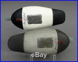 Broadbill Duck Decoy Matched Pair Tuckerton School Miniature Rick Brown Brick Nj