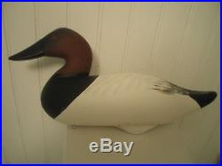 CANVASBACK DECOY PAIR by CHARLIE JOINER CHESTERTOWN MARYLAND S&D 2001