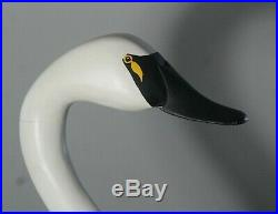 Captain Harry Jobes 2004 Full Size Upper Body Carved & Painted Wood Swan Decoy