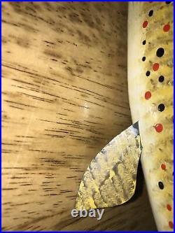 Carl Christiansen Newberry, Mi Large Brown Trout fish decoy