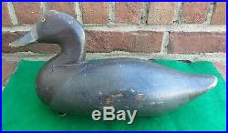 Carved Wooden Hunting Blue Bill Hen Duck Decoy Paul Gibson with AR Brand