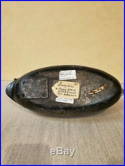 Charles Black, Blue Bill gunning decoy ca. 1940 Hollow, Scaup, New Jersey