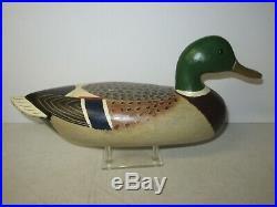 Charles Perdew Henry ILL Mallard Drake Vintage Original Paint Duck Decoy