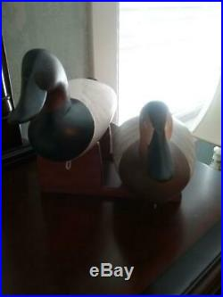Charlie Joiner Canvasback decoy pair signed & dated 1986 original paint. Great