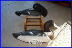 Charlie Joiner S & D Scaup Pair Duck Decoys Full Size Solid Body