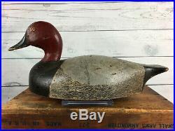 Clayton Para Drake Redhead Duck Decoy, Exceptional Paint & Very Rare Trenton, On