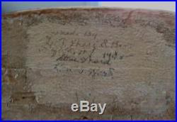 Crisfield Orig Paint Goose Decoy Signed Dated 1948 by Renown Lem & Steve Ward