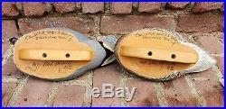 Dan Brown Duck Decoys 1992 Collector Series Greenwing Teal Pair Male/Female NICE