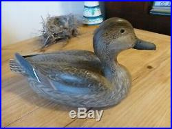 Decorative Pair Of Pintail Decoys By Ed Snyder Of Rio Vista Ca. Pacific Flyway