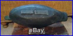 Dodge Factory Black Duck Decoy ca 1880's 2nd Grade Tack Eye Ex OP