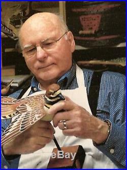 Duck Decoy Hand Carved Hand Painted Oversize Wooden Bufflehead Drake Original