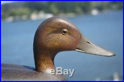 Duck decoy, early David Nichols, Smith Falls, Ont. Black Duck, hand carved/paint