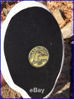 Ducks Unlimited Drake Bufflehead Decoy by Master Carver Jett Brunet Mint Cond