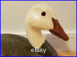 Ducks Unlimited Special Edition Snow Goose Decoy By Robert Capriola 1999-2000