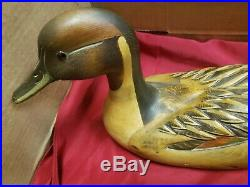 Ducks Unlimited TOM TABER JOHN FAIRFIELD DRAKE PINTAIL DUCK DECOY 1986-87