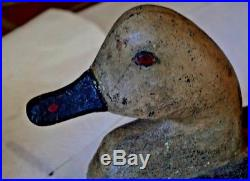 EARLY Cast Iron SINK BOX Duck Decoy SIGNED JCB in mold, Great Original Paint