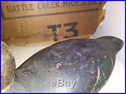 Early 20th Century Antique Black Duck Decoy