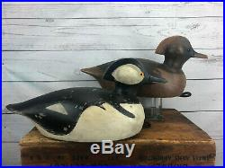 Ed McNeil Landsowne Ont. Inspired Pierre Bacon Hooded Duck Decoy Pair