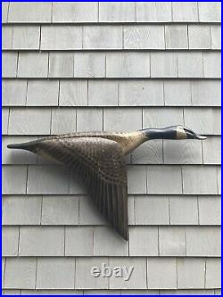 Elmer Crowell Flying Goose Wood Decoy. By Ken Kirby Mint Condition Late 90s