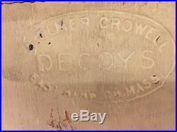 Elmer Crowell Wood Slatted Goose Decoy