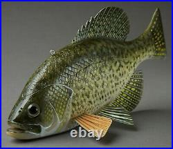 Excellent John Peters Crappie Fish Spearing Decoy Ice Fishing Lure Folk Art
