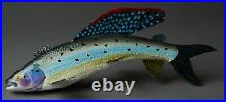 Excellent Michigan Benziejo 8 Grayling Ice Fish Spearing Decoy Folk Art Lure