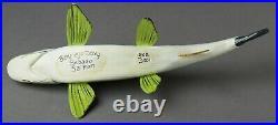 Excellent Michigan Benziejo 9 Salmon Ice Fish Spearing Decoy Folk Art Lure