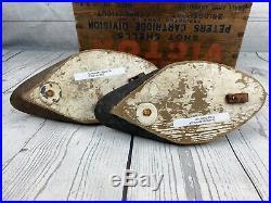 Excellent Pair of Working Bluebill Duck Decoys Ontario Canada