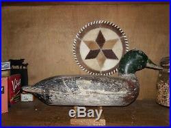 FIRM Vintage Illinois River Mallard Duck Decoy Robert Elliston IL MN WI OH MI