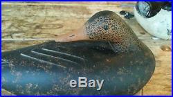 Fine Maine Sleeper Black Duck Decoy Signed