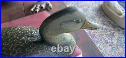 Fine Reggie Birch Ira Hudson Style Black Duck Decoy A Beauty
