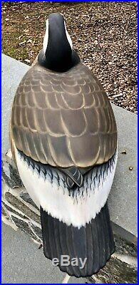 George Strunk Canadian Goose Decoy New Jersey Cross Wing Very Rare 2007