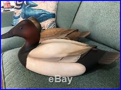 George Strunk NJ Canvasback Pair Duck Decoys. Hunt Band Carver
