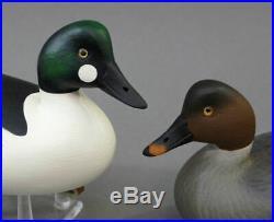 Goldeneye Duck Decoy Matched Pair Tuckerton School Miniature Rick Brown Brick Nj