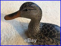 Grayson Chesser Hand Carved Mallard Duck Decoy Hen Chincoteague VA Signed Mint