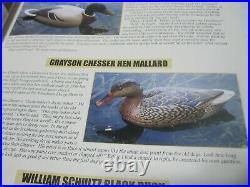 Grayson Chesser Hen Mallard Virgiania Decoy 1996 & Magazine