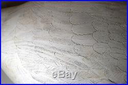 HUGE hand carved CEH wood Folk Art east coast Maryland swan duck decoy sculpture