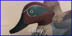 Harry Jobes green wing teal Decoy Pair Signed