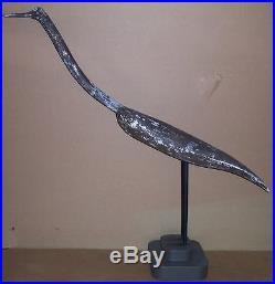 Heron Crane Marsh Bird hand carved wooden duck decoy