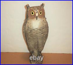 Herter's Owl Decoy Balsa Wood Crow Vintage