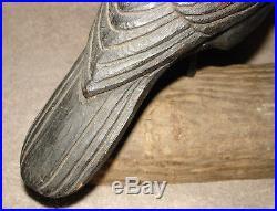 Herters Model Perfect, Carved Cedar Crow Decoy