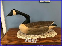 Huge Wood Carved Canadian Goose Decoy Signed Morrone