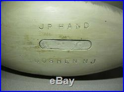J P HAND Carved Canada Goose Wood Decoy Goshen NJ WORKING