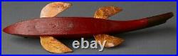 Jay McEvers Fish Decoy Fishing Folk Art Carved Wood Ice Fish Spearing Lure
