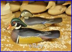 John Meredith of Worton Maryland Wood Duck Decoy Pair