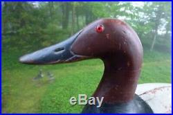 John Roth (1885-1948) Oshkosh, WI. Canvasback duck decoy 17 long